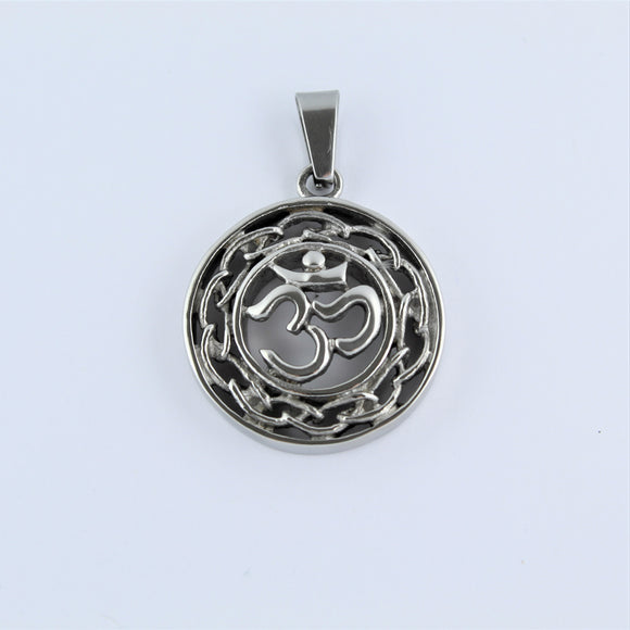 Stainless Steel Ohm Pendant