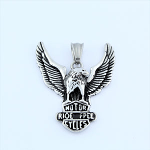 Stainless Steel Eagle Ride Free Pendant