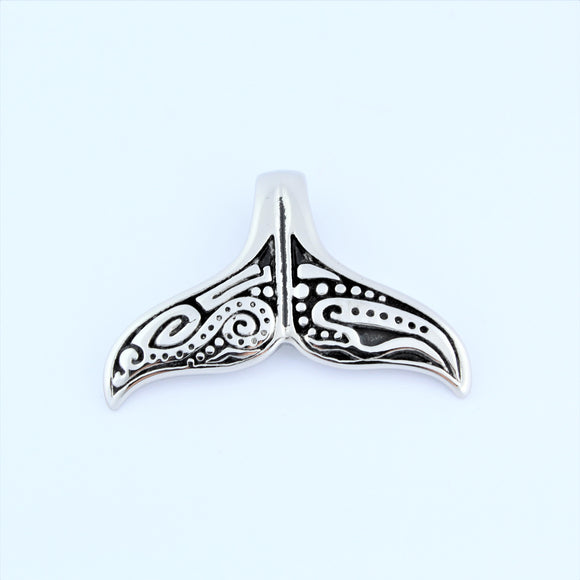 Stainless Steel Whale Tail Pendant