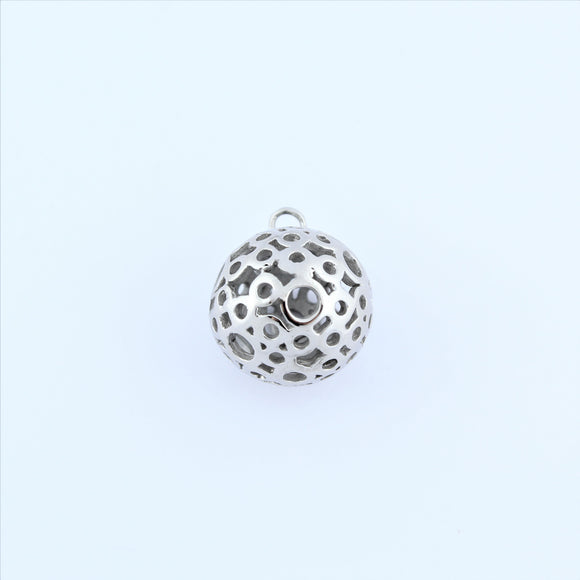 Stainless Steel Bubble Ball Pendant
