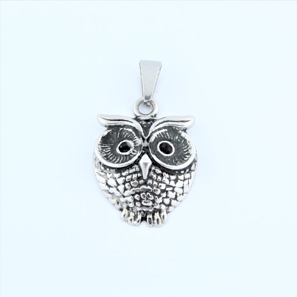 Stainless Steel Owl Pendant