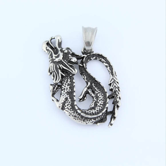 Stainless Steel Chinese Dragon Pendant