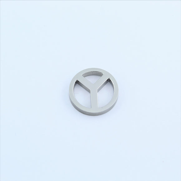 Stainless Steel Peace Pendant
