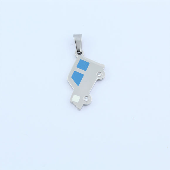 Stainless Steel Car With CZ Pendant