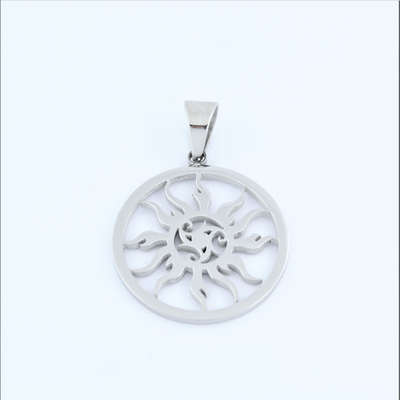 Stainless Steel Sun Disc Pendant