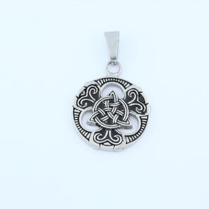 Stainless Steel Celtic Disc Pendant