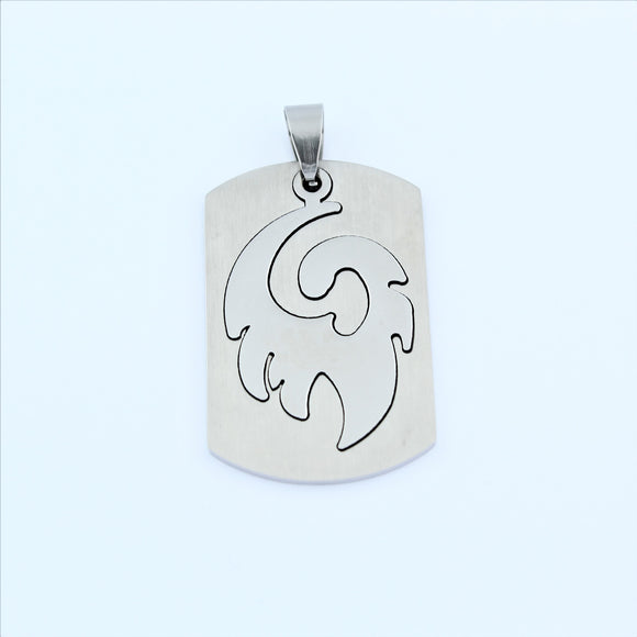 Stainless Steel Cut Out Tribal Tag Pendant