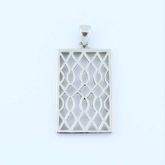 Stainless Steel Fancy Rectangle Pendant