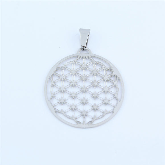 Stainless Steel Flower Of Life Pendant