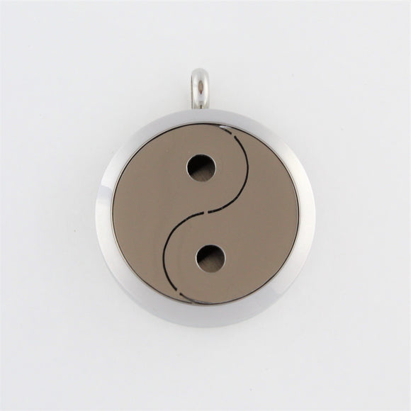 Stainless Steel Yin Yang Scent Pendant