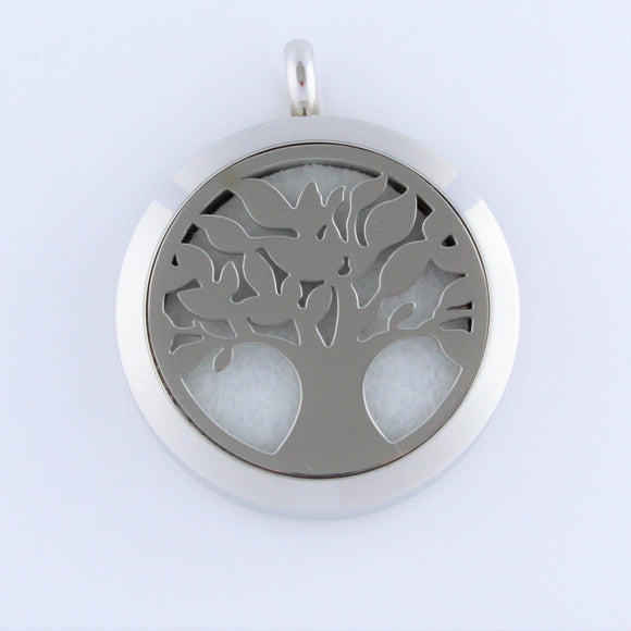 Stainless Steel Family Tree Scent Pendant