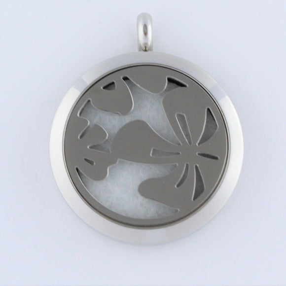 Stainless Steel Flower Scent Pendant