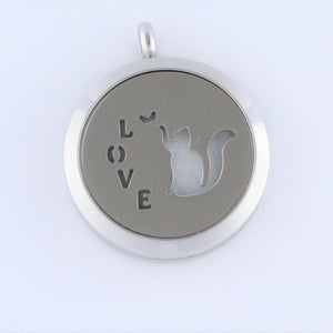 Stainless Steel Cat Love Scent Pendant
