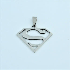 Stainless Steel Superman Pendant 2