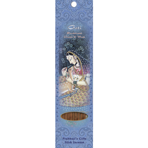Gati Stick Incense- Sandalwood, Amber, and Musk