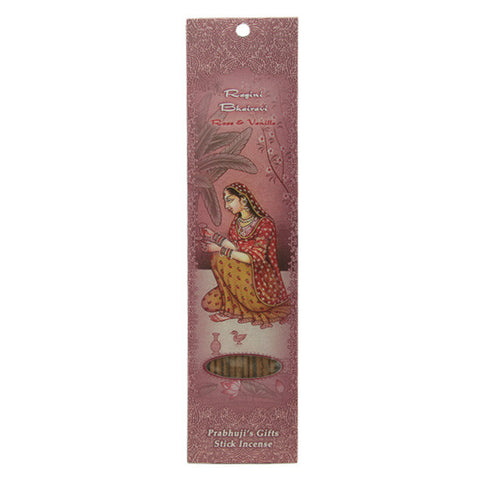 Ragini Bhairavi Stick Incense - Rose and Vanilla