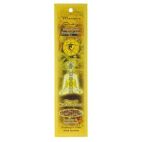 Manipura (Solar Plexus) Chakra Stick Incense - Power and Self-confidence