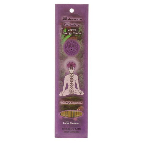 Sahasrara (Crown) Chakra Stick Incense - Enlightenment