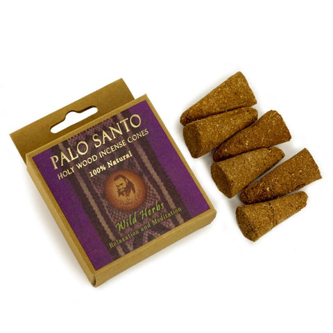 Palo Santo and Wild Herb Incense Cones - Relaxation & Meditation - 6 Cones