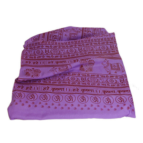 Meditation Yoga Prayer Shawl - Maha Mantra - Purple