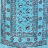 Meditation Yoga Prayer Shawl- Om - Turquoise