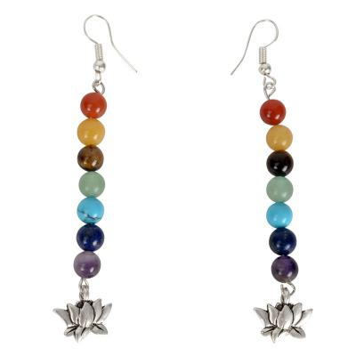 7 Chakra Earrings with Pendants