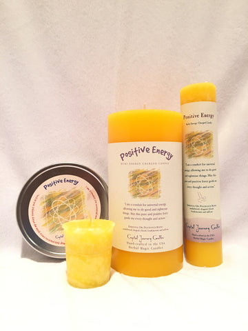 Positive Energy-Reiki Charged Herbal Candle
