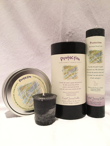 Protection-Reiki Charged Herbal Candle