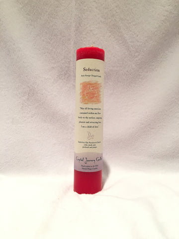 Seduction-Reiki Charged Herbal Candle