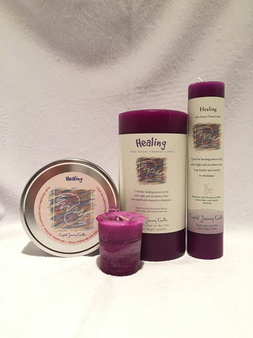 Healing-Reiki Charged Herbal Candle