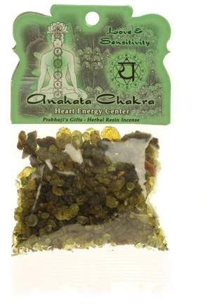 Anahata Chakra Resin Incense (Heart) - Love & Sensitivity