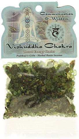 Vishuddha (Throat) Chakra Resin Incense - Communication & Wisdom