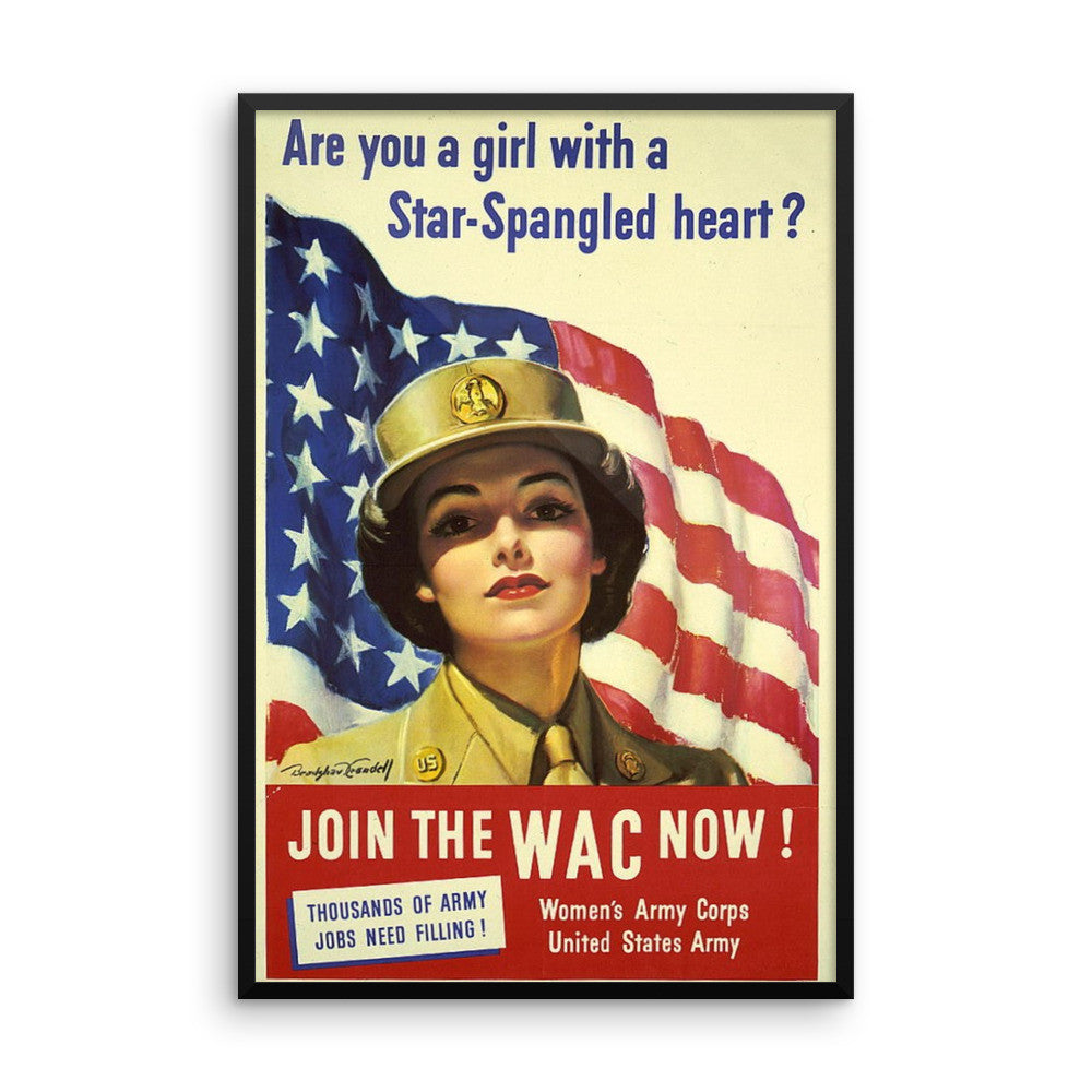 Women's Army Corps Framed poster