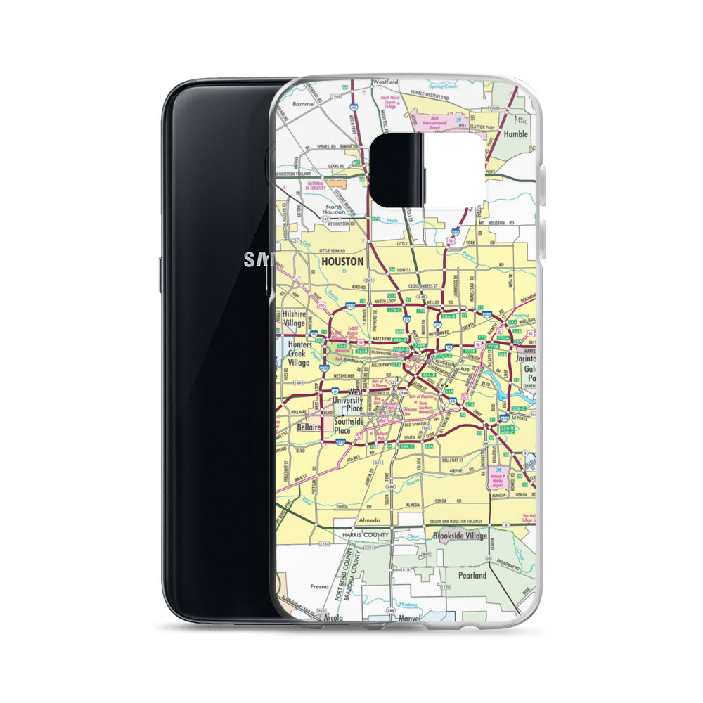 Houston Map Samsung Case