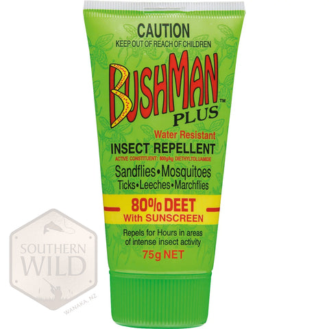 BUSHMAN PLUS GEL W/SUNSCREEN 80% DEET
