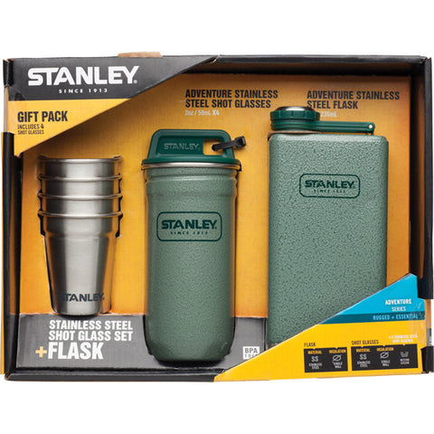 STANLEY ADVENTURE HIP FLASK & SHOT GLASS GIFT SET - Southern Wild - 2