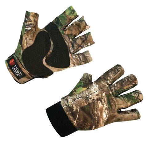 camo fingerless gloves