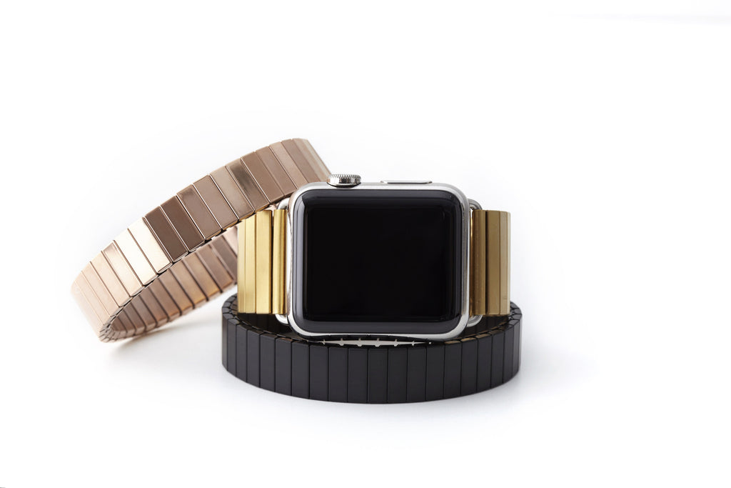 Xistwear Yellow Gold Fashion Band For 38mm Apple Watch Rilee Lo