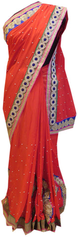 Red Stylish Saree