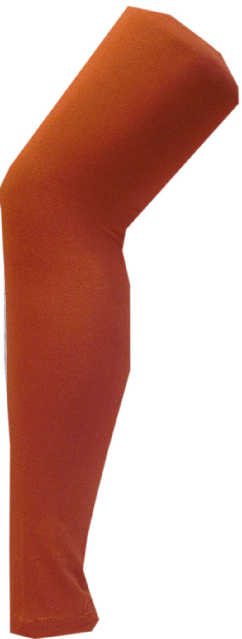 Rust Orange Solid Leggings