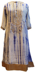 Blue & White Designer Georgette Gota Work Kurti