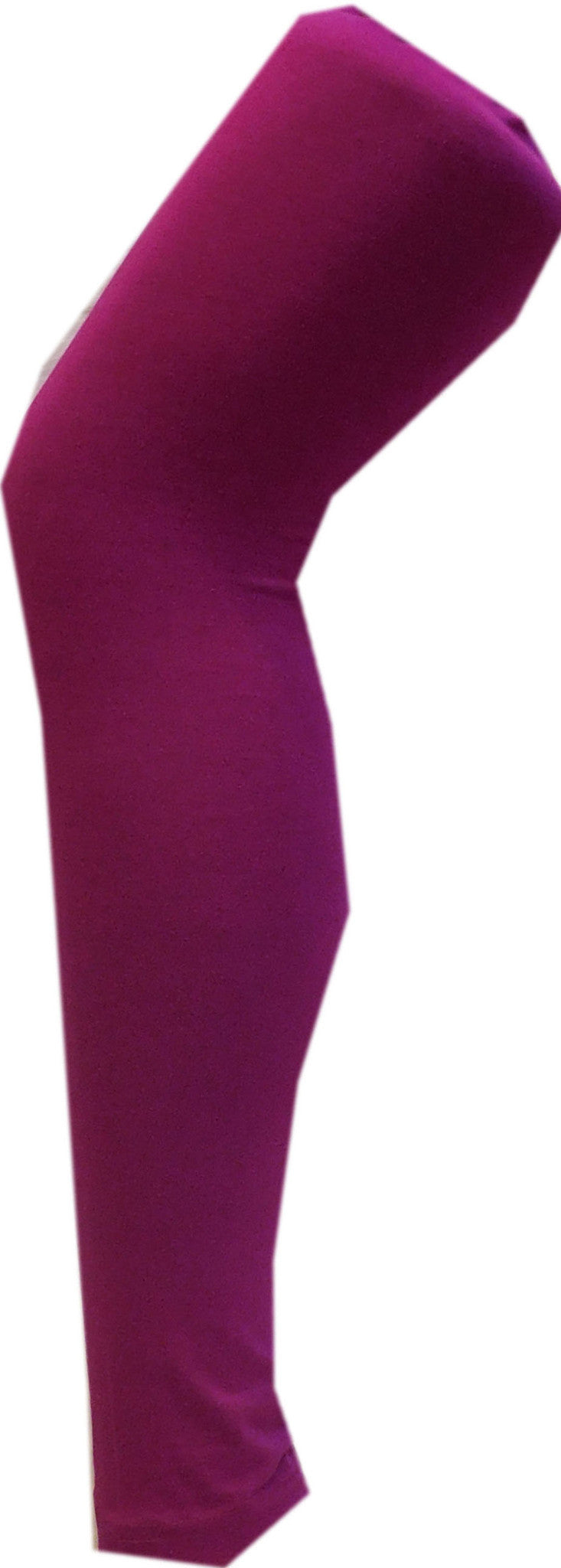 Wine Solid Leggings