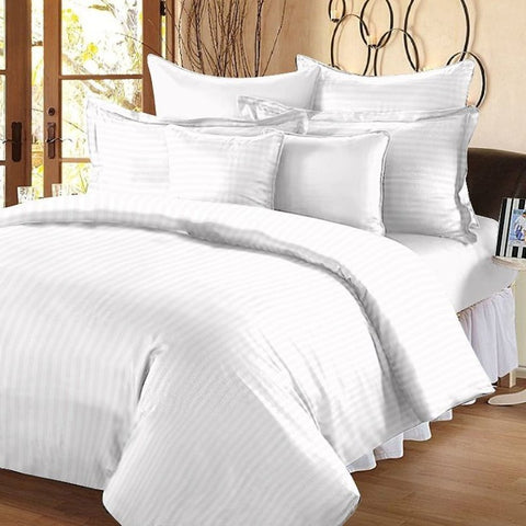 White Pure Cotton Double Bed Bedsheet