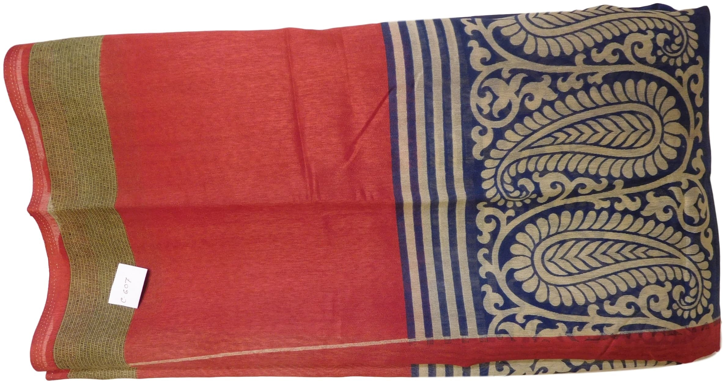 Multicolor Designer Raw Silk Printed Saree Sari