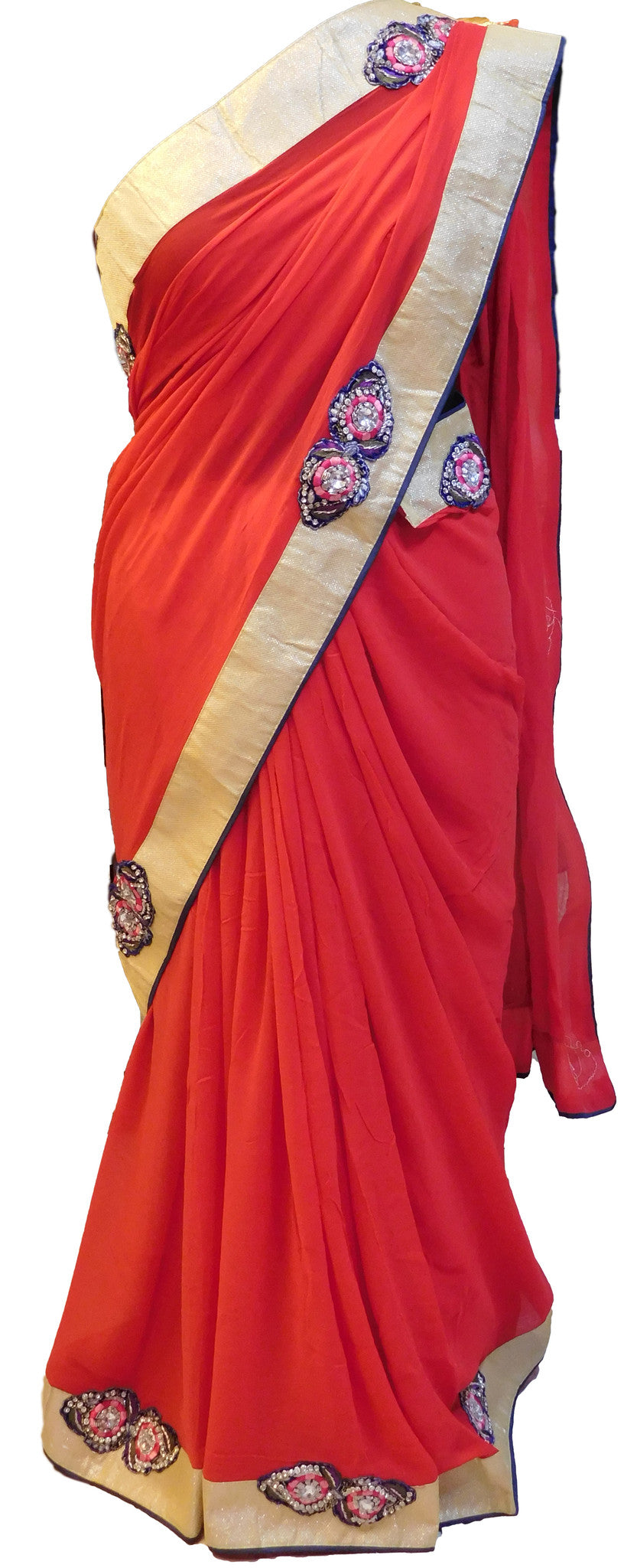 Stylish Red Saree