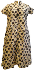 Cream Designer Pure Cotton Printed Kurti Kurta