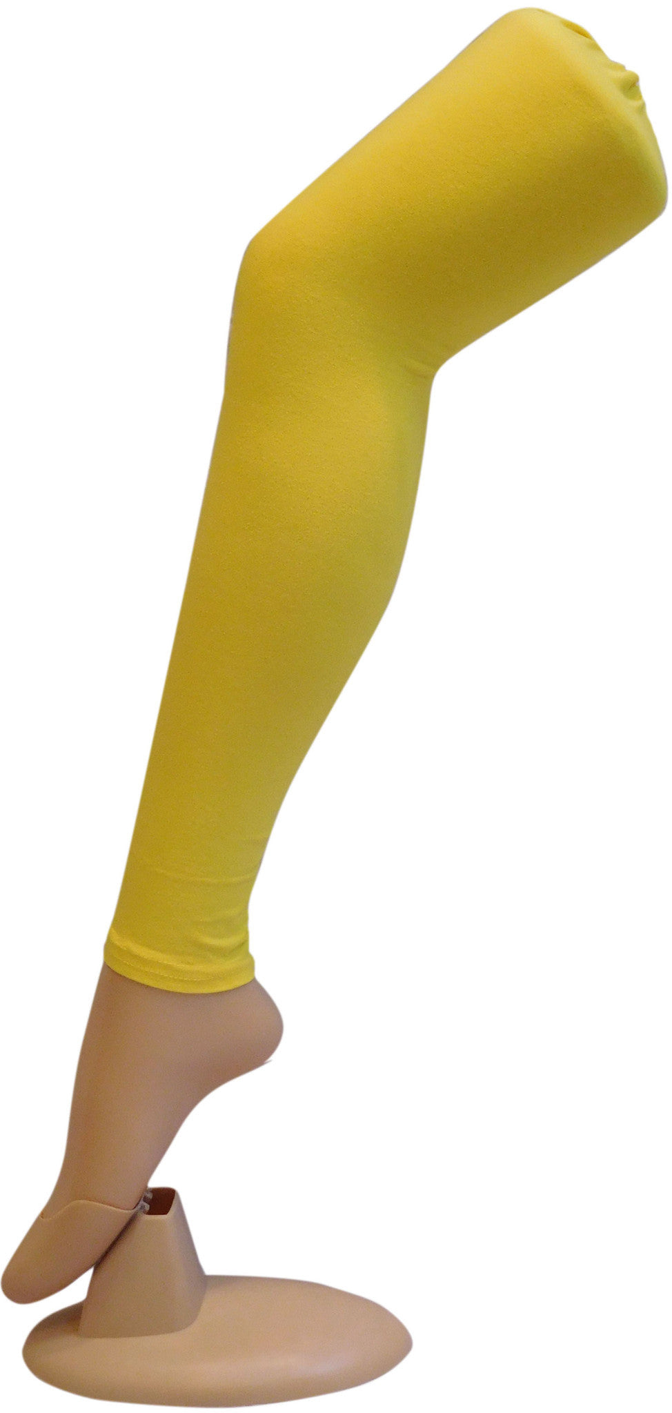 Yellow Solid Leggings