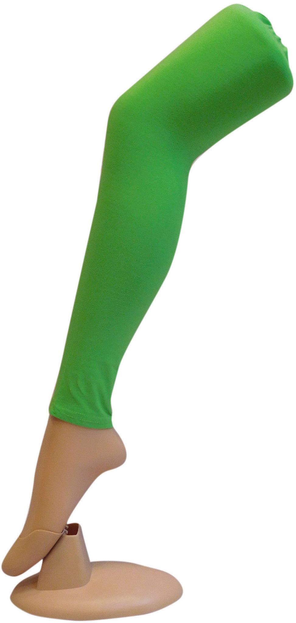 Green Solid Leggings