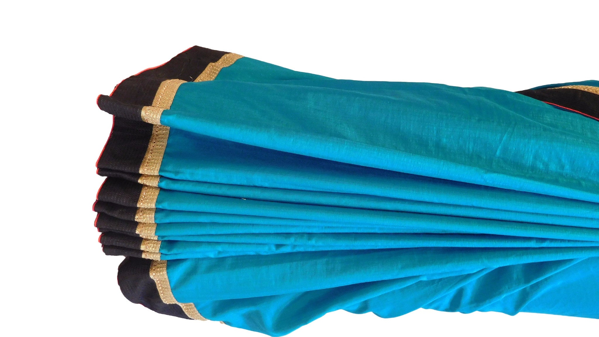 Turquoise Designer Silk Saree With Stylish Blouse