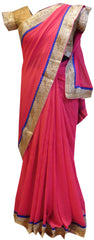 Pink Designer Saree With Stylish Blouse